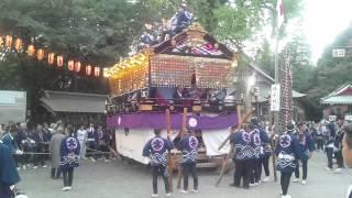 2015年11月1日、二宮神社境内に時平神社の山車が昇殿.
