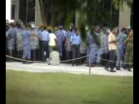 August 2005 Peaceful protest in the Maldives to mark Black Friday 's 1st Anniversay