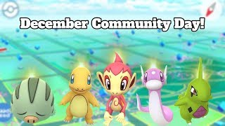 POKEMON GO DECEMBER COMMUNITY DAY ANNOUNCED! 2018 & 2019 Pokemon Featured!