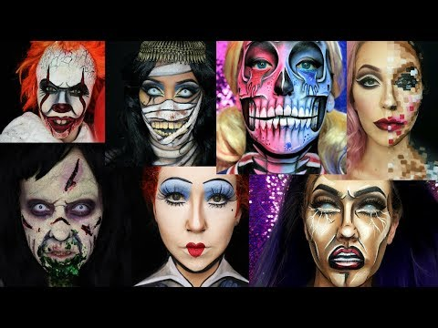 Halloween makeup montage! Some of my looks from 2017 so far