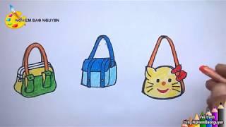 Tạo dáng và trang trí túi xách/How to draw Hand bag