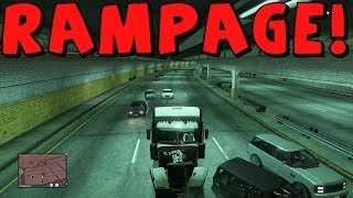 GTA 5 Online | Semi Truck | Rampage Of Destruction!