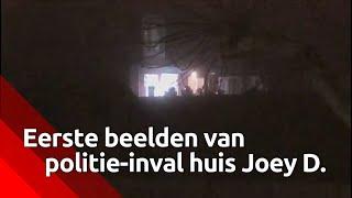 Joey D. heeft zichzelf ernstig verwond toen politie zijn huis binnenviel
