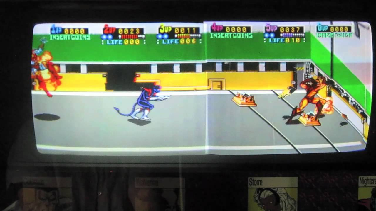 Konami X Men Arcade Game Cabinet Review Six Player Version 1992 Johns Arcade On The Road