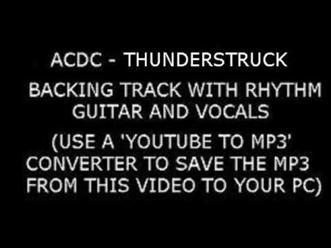 ACDC THUNDERSTRUCK Backing Track With VOCALS and RHYTHM GUITAR
