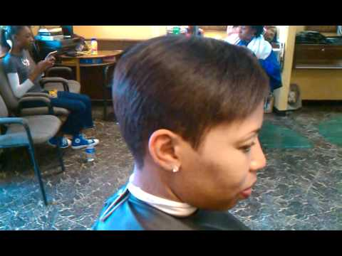 Lady Hair Cut By Taurus The Barber 7135407742 Youtube