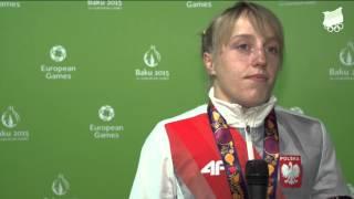 Baku 2015: Katarzyna Krawczyk - zapasy, srebro