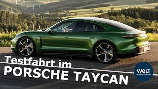 PORSCHE TAYCAN - Tim Schricks Probefahrt im schwäbischen Batterie-Sportler
