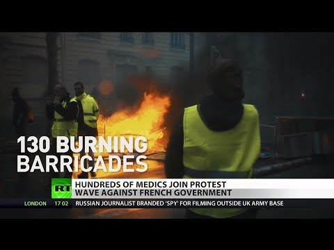France's 'Yellow Vest' Protests Escalate to Teargas & Rubber Bullets