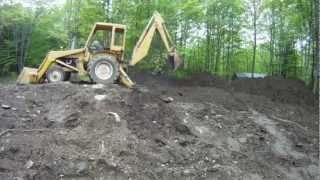 Site Work Excavation With An International 3414 Backhoe 3 My Dream Garage Build Hd Time Lapse