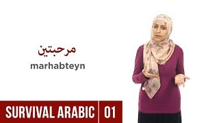 Survival Arabic: Lesson 01 - Greetings – How to say Hello in Arabic