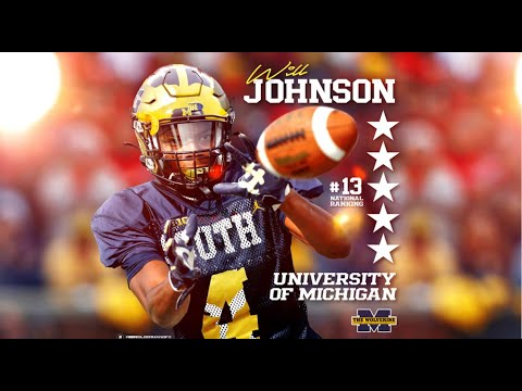 BREAKING: 5-Star DB Will Johnson Commits To Michigan Wolverines!!!