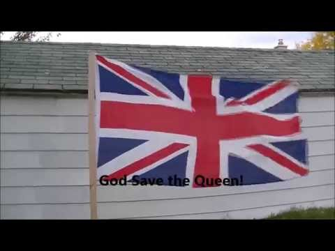 God Save the Queen Instrumental with Lyrics on Screen