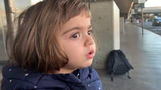 Liana at the Airport going to Germany November, 28, 2019