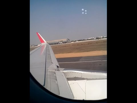 Flight Take off from Jaipur International Airport - Inside View
