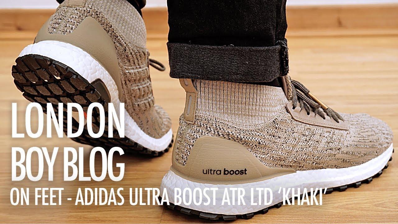 48542ae041e76 On Feet - Adidas Ultra Boost ATR LTD  Khaki  - YouTube