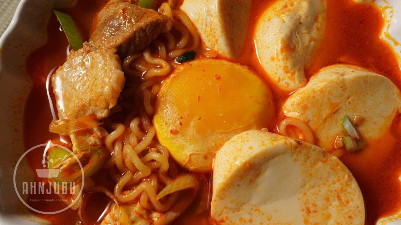 고기넣고 순두부 열라면 만들기 | 간단한 요리 | Soft Tofu Ramen Recipe