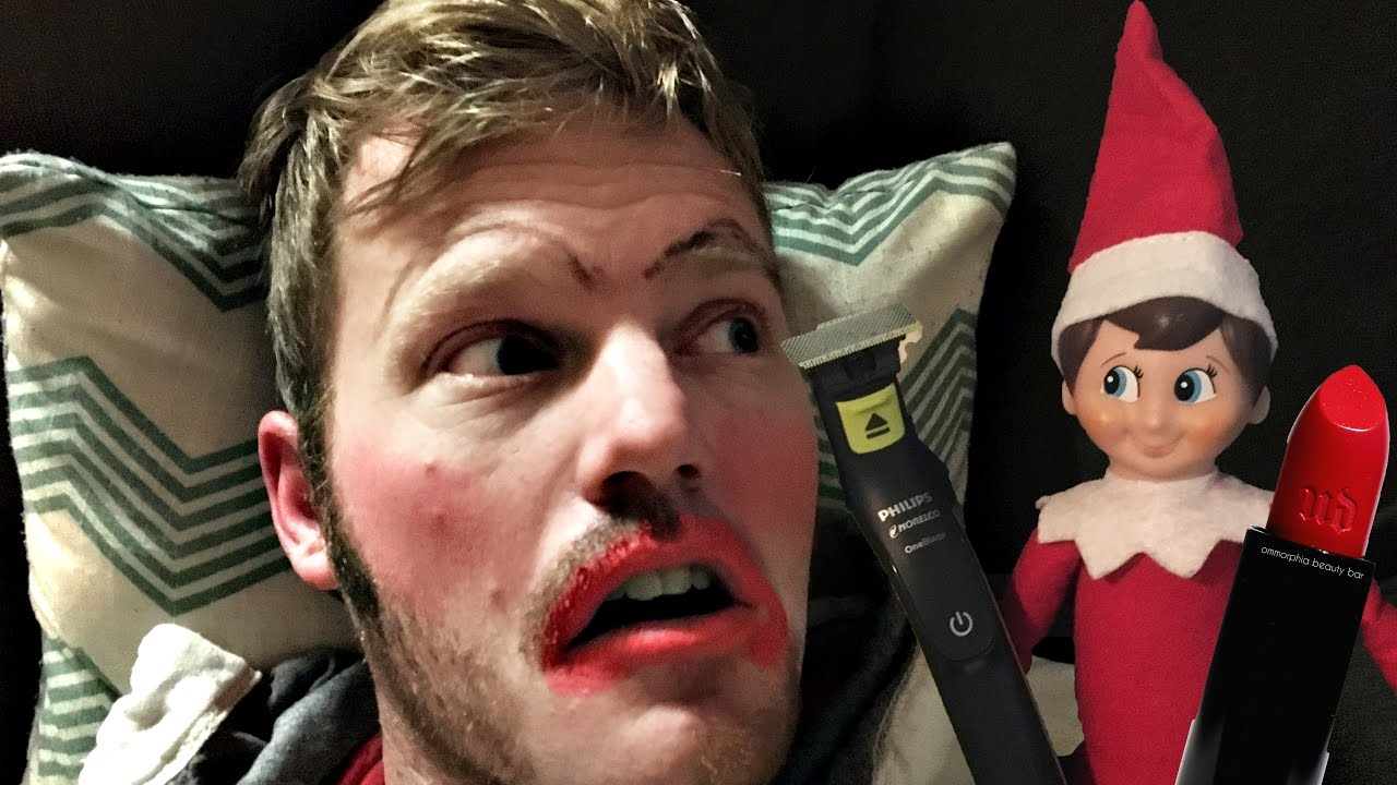 Elf On The Shelf Puts Makeup On Dad Youtube