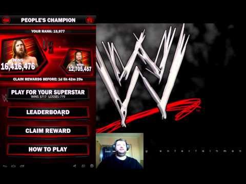 WWE SuperCard#7 - Claim Rewards from KOTR & PCC Daniel Bryan vs Roman Reigns