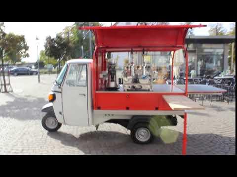Piaggio Ape Mobiler Kaffeeverkauf ohne externen Strom!