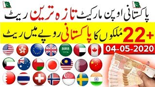 Pakistan open market exchange rate,USD to PKR,dollar buying selling price,currency rates,4 May 2020,