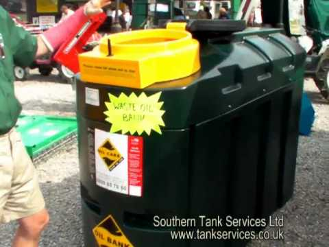 Waste Oil Tank, Harlequin 1000ORB (1000L Oil Recycle Bank)