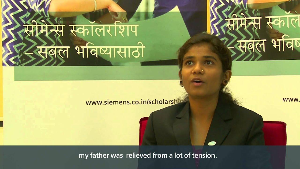 Siemens India Scholarship Program student, Pooja Rokade