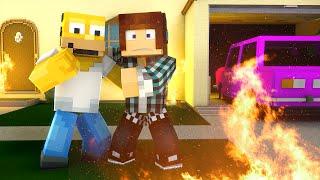 Minecraft : FOGO NA CASA DOS SIMPSONS  !! (Mapa)