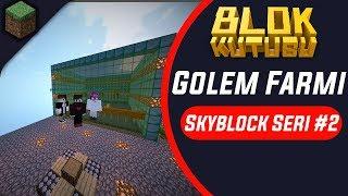 Blokkutusu Skyblock Seri #2 Golem Farmı 🌖