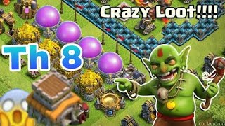 COC-How to get Millions of Loot in No Time | Best Farming Attack Strategy for TH8!!!