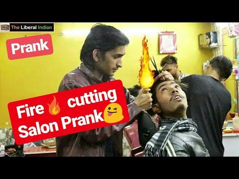 Fire cutting Salon Prank | Salon Prank | Pranks in India | Aamir The Liberal Indian TLI