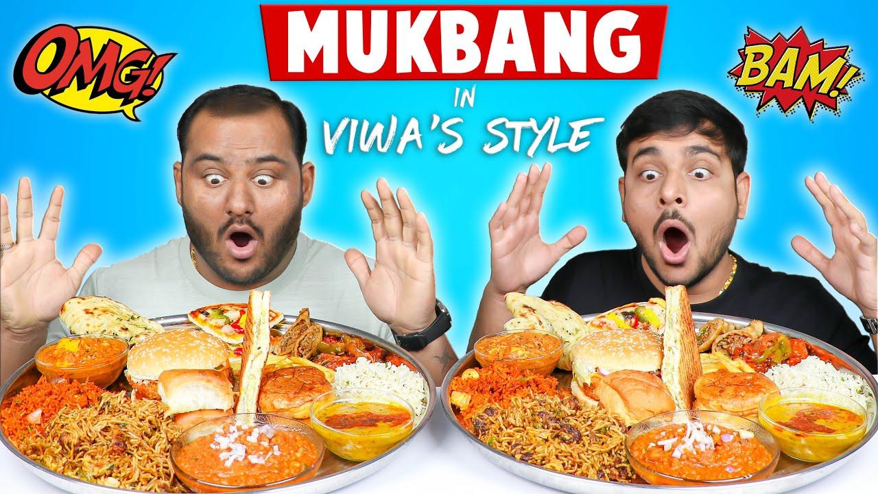 EPIC MUKBANG IN VIWA'S STYLE | Indian Food Mukbang | Food Eating Competition | Viwa Food World