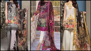 Cross Stitch Winter Digital Printed and Embroidered dresses / Latest Kurti Collections