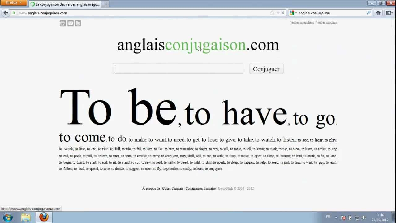 English Verb Conjugation Anglais Conjugaison Com Youtube