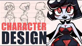 [DRAWING A VAMPIRE BABE] How to Design Cute Characters