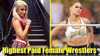 10 Current HIGHEST- PAID Females Wrestlers In The WWE! - Ronda Rousey, Alexa Bliss & More!
