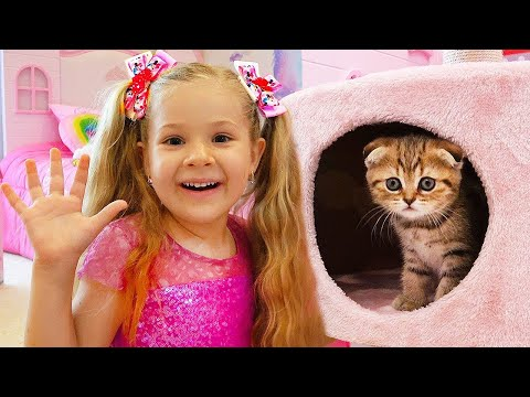 Диана и Рома нашли котёнка