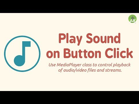 Play Sound on Button Click using MediaPlayer class | Android Studio