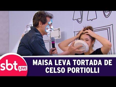 SBT Live Com Teleton+ - Maisa Leva Tortada De Celso Portiolli | (09/10/17)