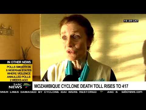 Current Cyclone Idai death toll: Moz(417), Zim(142), Malawi(56)