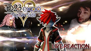 KINGDOM HEARTS 3 D23 Expo 2018 Trailer Live Reaction (Editted)