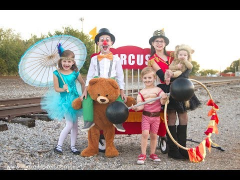 DIY Circus Themed Costumes.... for the whole family!