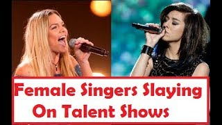 Female Singers Slaying High Notes On Talent Shows!!
