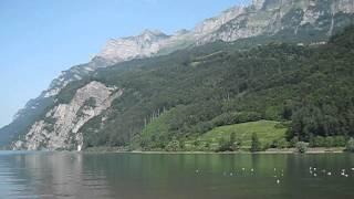 Панорама озера Валенсее. Швейцария(Виды Швейцарии. Озеро., 2013-07-14T13:34:02.000Z)