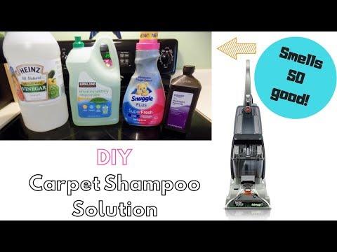 Homemade carpet cleaner with castile soap