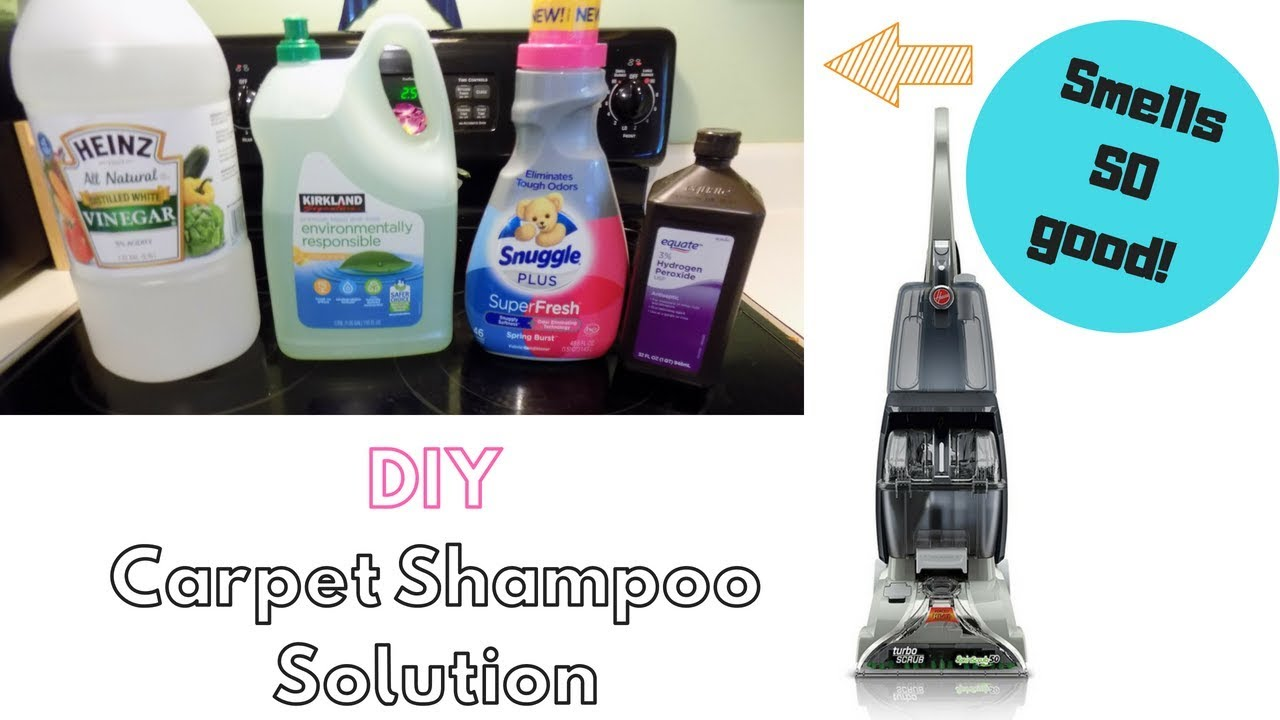 diy carpet shampoo solution 😮 / smells sooo good! / clean with me