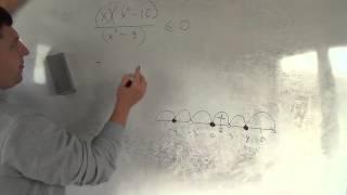Алгебра 9 класс. 8 октября. неравенства метод интервалов для дробей #4