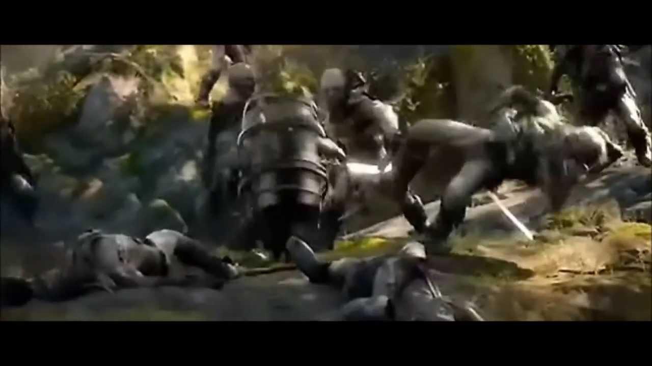 The Hobbit The Desolation Of Smaug 2013 Bombur Funny Barrel Scene Hd