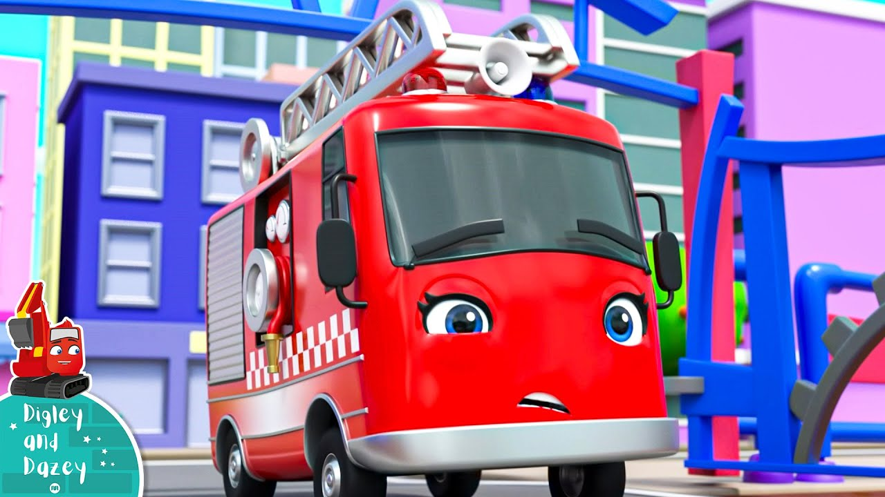 Fire EMERGENCY!! - Digley and Dazey | Construction Cartoons for Kids