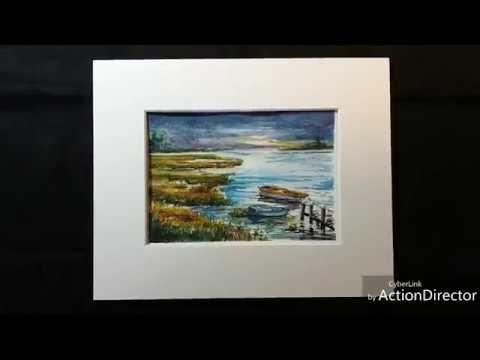 Sunrise Marsh Landing Watercolor Painting Demo by G Brannigan